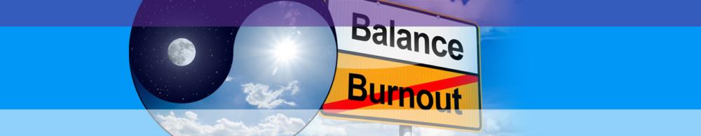 Schild Stressmanagment weg vom Burnout