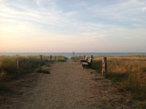 Strandaufgang Ruhe tanken